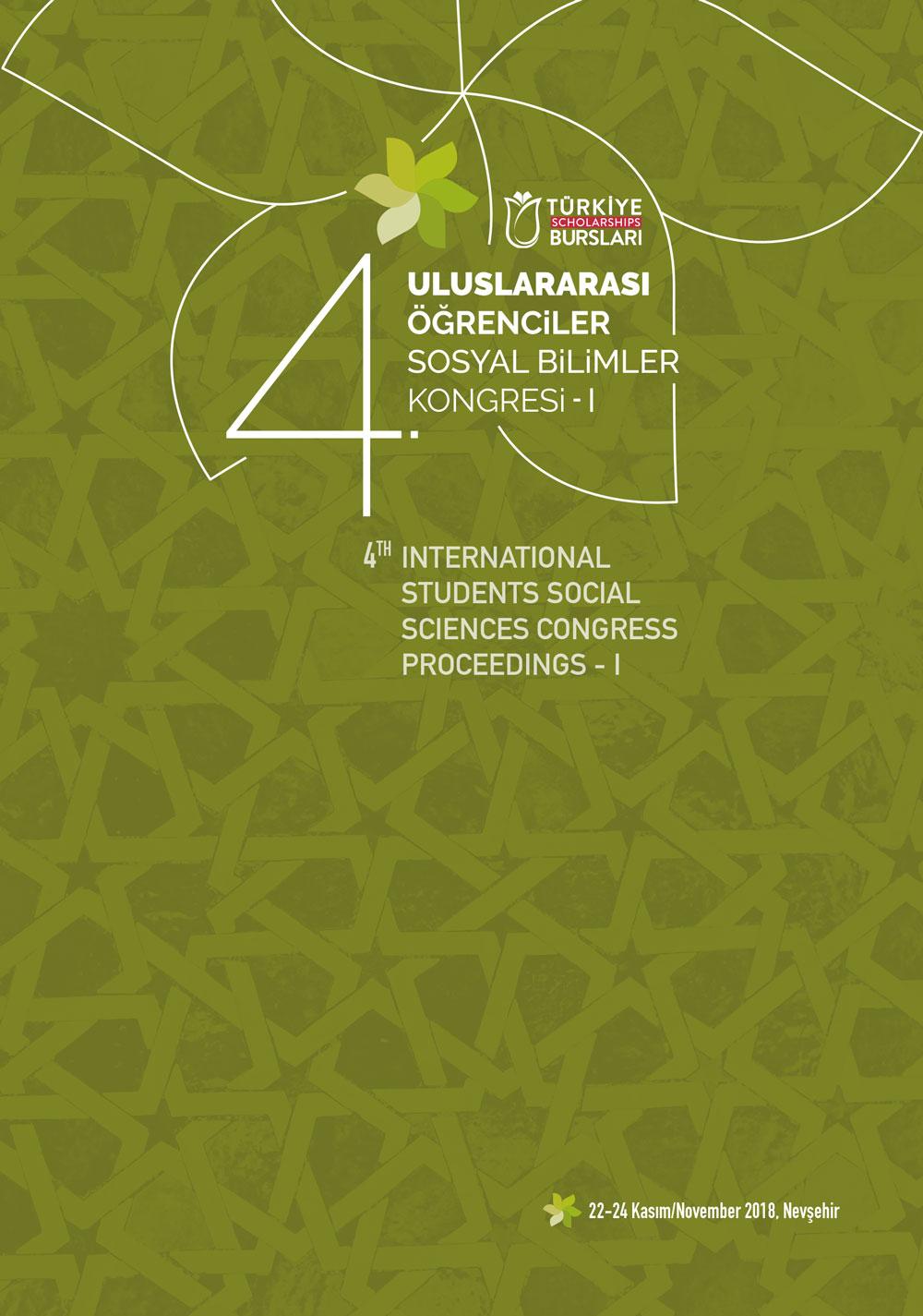 4. Uluslararası Öğrenciler Sosyal Bilimler Kongresi Bildiriler Kitabı