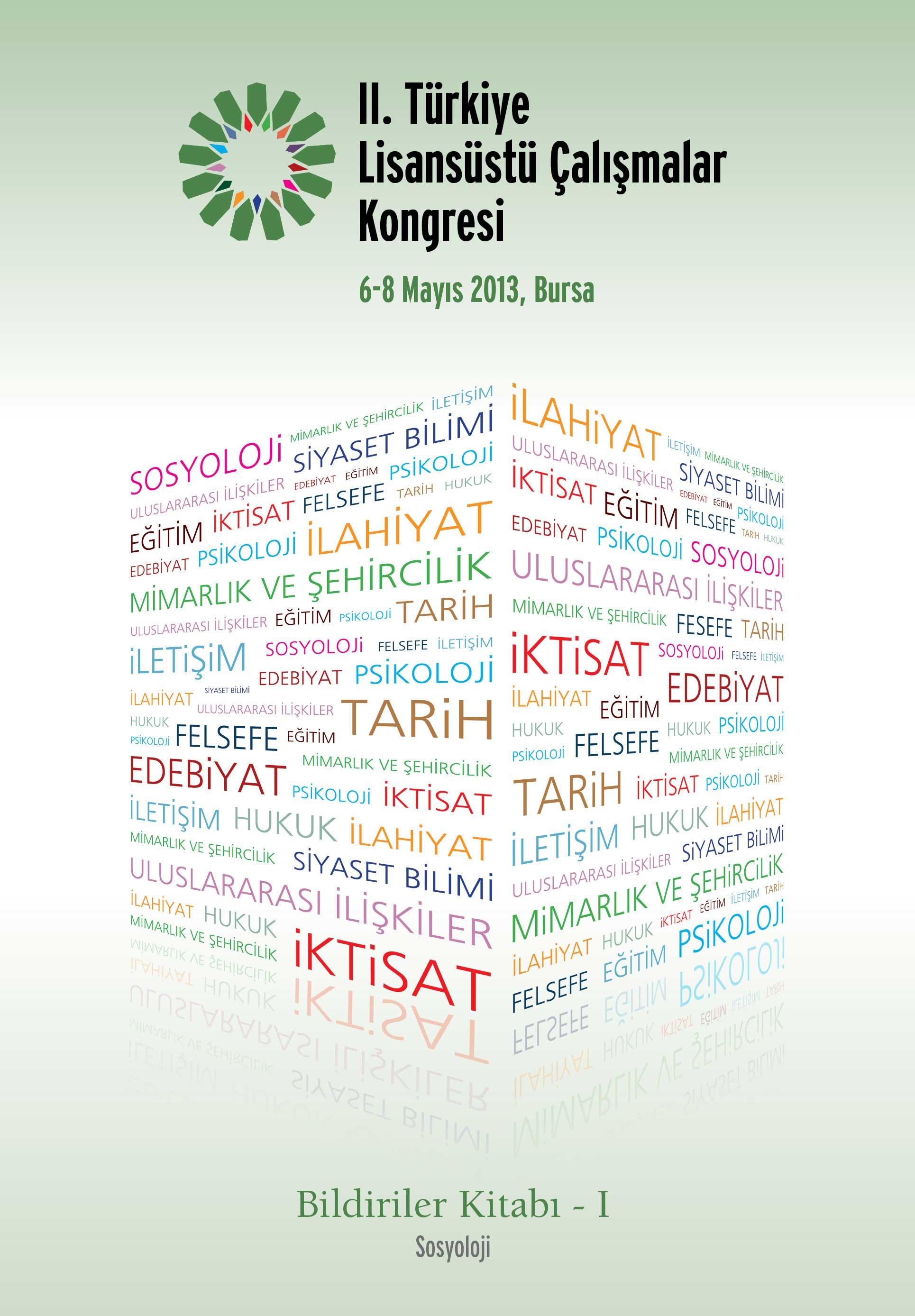 2. Türkiye Lisansüstü Çalışmalar Kongresi Bildiriler Kitabı