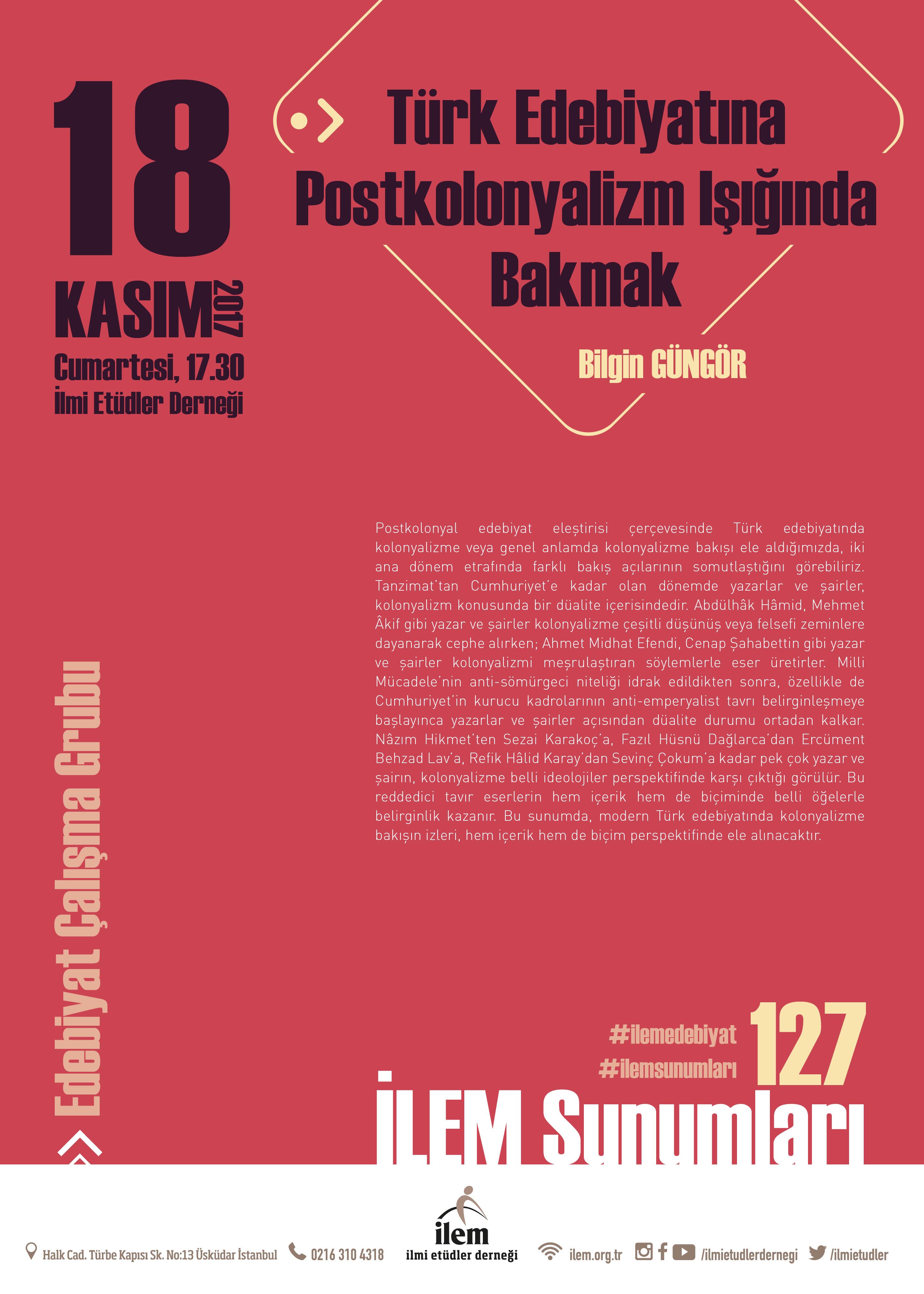 Türk Edebiyatına Postkolonyalizm Işığında Bakmak