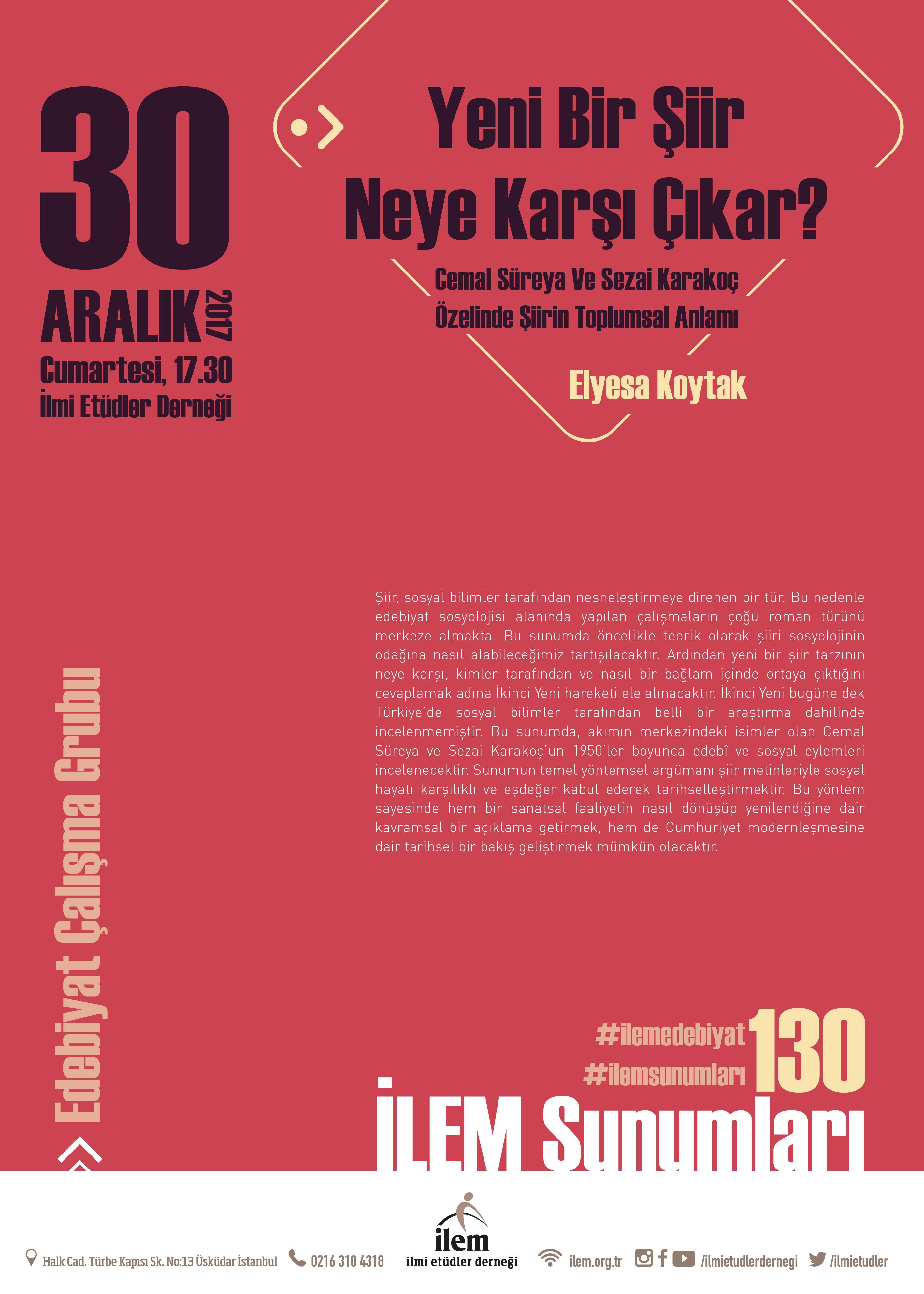 Yeni Bir Şiir Neye Karşı Çıkar? Cemal Süreya Ve Sezai Karakoç Özelinde Şiirin Toplumsal Anlamı