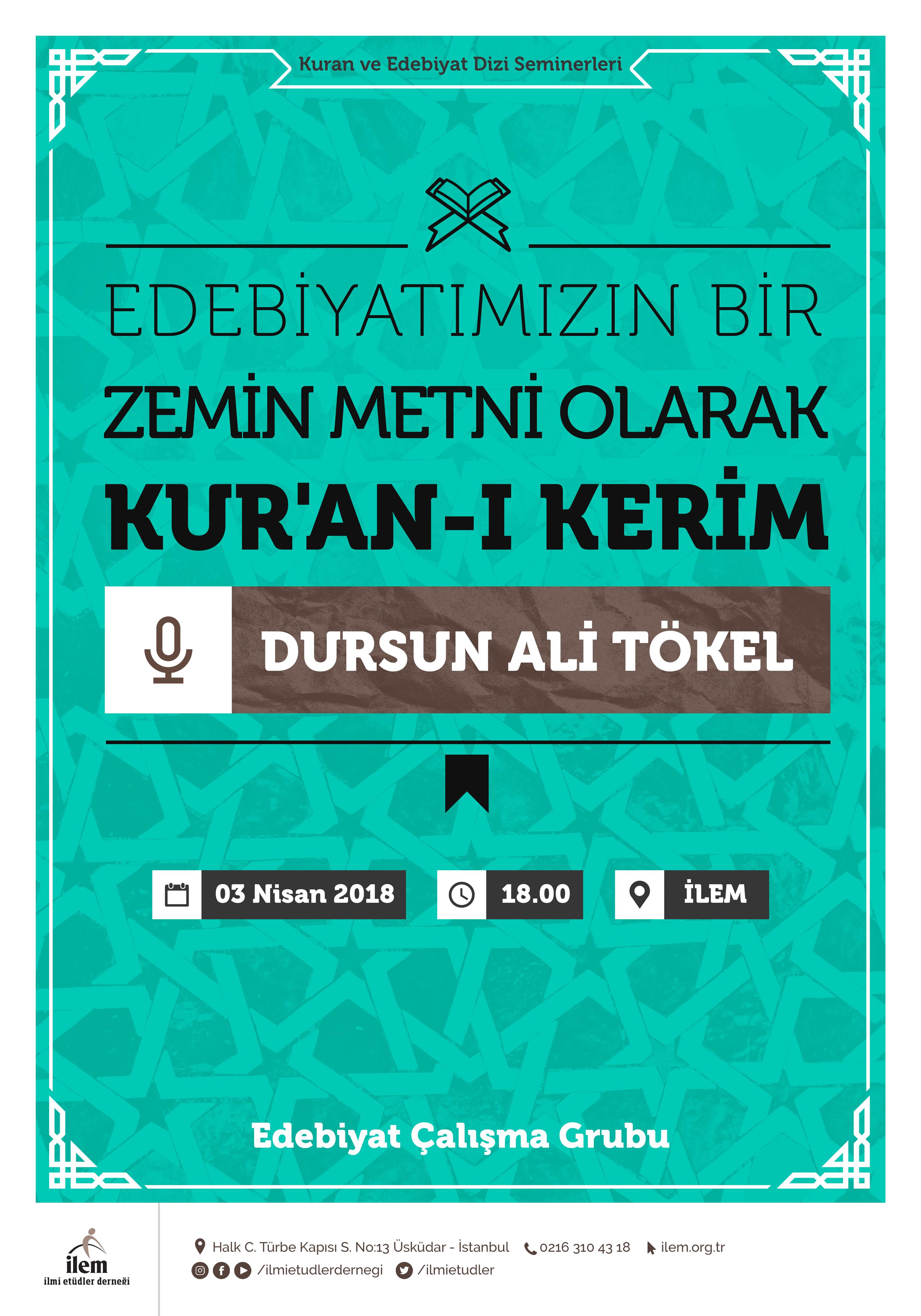 Edebiyatımızın Bir Zemin Metni Olarak Kuran-ı Kerim