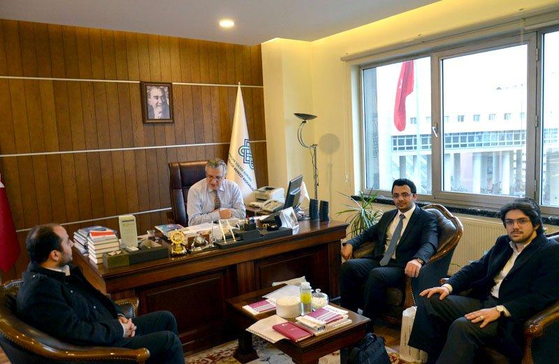 İLEM AKM Başkanı Prof. Dr. Turan Karataş'ı ziyaret etti